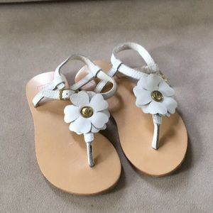 Janie and Jack Flower sandals toddler size 5